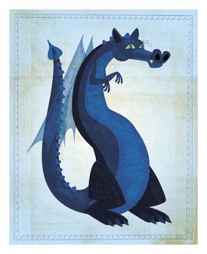 Blue Dragon by John W^ Golden