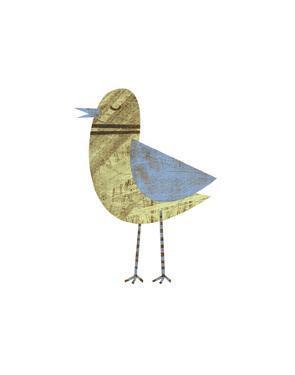 Blue Winged Bird by John W. Golden