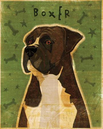 Boxer (Brindle) by John W. Golden