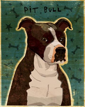 Brindle Pit Bull by John W. Golden