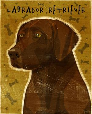 Chocolate Lab (NEW) by John W. Golden