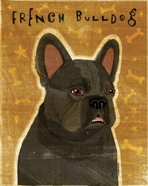 French Bulldog (Black) by John W. Golden