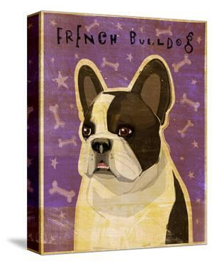 French Bulldog (White Brindle) by John W. Golden