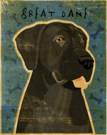Great Dane (Black, no crop) by John W. Golden