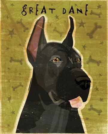 Great Dane (Black) by John W. Golden