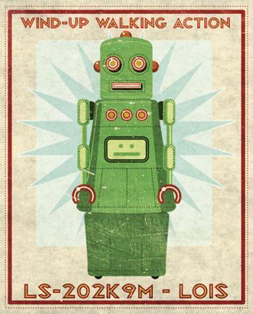 Lois Box Art Robot by John W. Golden