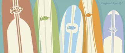Longboards Surfboard print No. 2 by John W. Golden