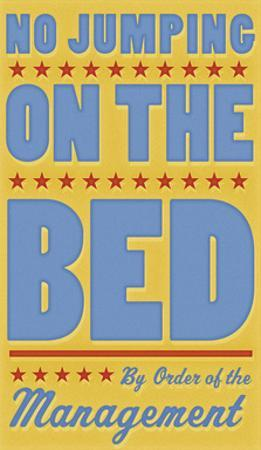 No Jumping on the Bed (yellow) by John W. Golden