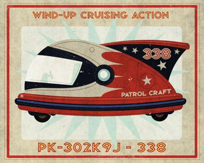 Patrol Craft 338 Box Art Tin Toy by John W. Golden