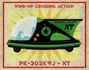 Patrol Craft XT Box Art Tin Toy by John W. Golden