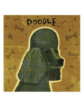 Poodle (black) (square) by John W. Golden