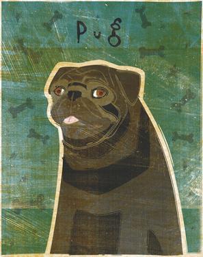 Pug (black) by John W. Golden