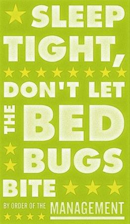 Sleep Tight, Don't Let the Bedbugs Bite (green & white) by John W. Golden