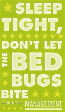 Sleep Tight, Don't Let the Bedbugs Bite (green & white) by John W^ Golden