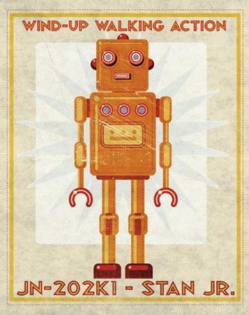 Stan Jr. Box Art Robot by John W. Golden