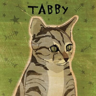 Tabby (grey) (square) by John W. Golden