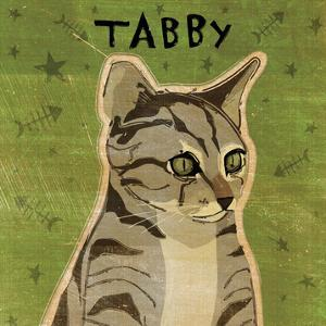 Tabby (grey) (square) by John W. Golden