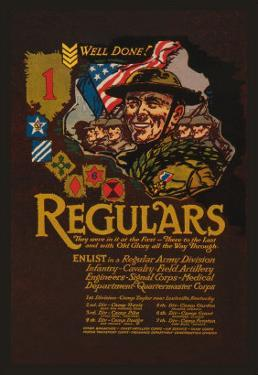 Enlist in the Regular Army Division by John W. Sheeres