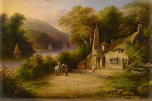 On the River Dart Between Totnes and Dartmouth, 1869 by John Wallace Tucker