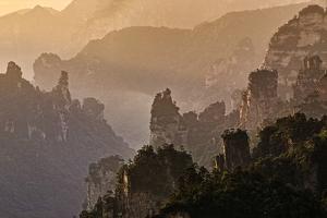 Sunrise at Zhangjiajie National Park by John Wang