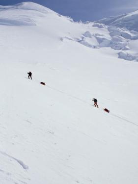 Climbers on Mount Mckinley, Alaska, USA by John Warburton-lee