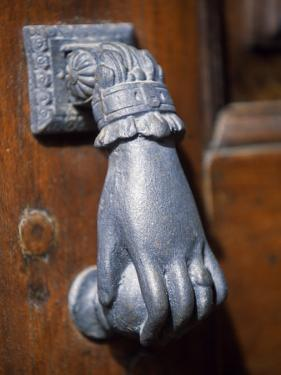 Door Knocker on a House in the Small Hill Top Village of Briones by John Warburton-lee