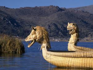 Reedboats, Lake Titicaca, Peru by John Warburton-lee