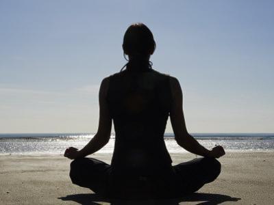 Yoga on the Beach, Northern Ireland by John Warburton-lee