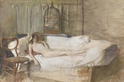 Nude on a Sofa, 1980