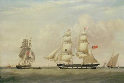 The Black Ball Line Brig, 'Wupper' Off Spurn Head, 1849