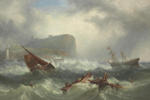 Wreck Off Scarborough, 1863 by John Warkup Swift