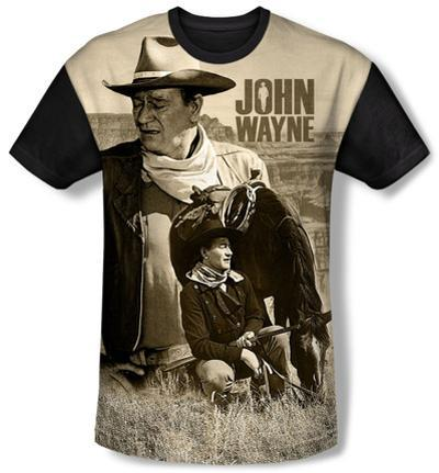 John Wayne - Stoic Cowboy(black back)