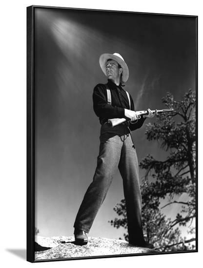John Wayne THE SHEPHERD OF THE HILLS, 1941 directed by HENRY HATHAWAY (b/w photo)--Framed Photo