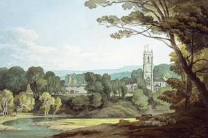 The Church and Castle at Tiverton, Devon by John White Abbott