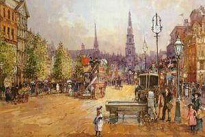 Cab Stand in the Strand by John White