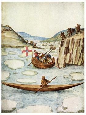 Eskimo Kayak, 1590 by John White