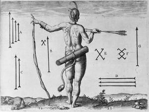 Indian Markings, Engraved by Theodor De Bry (1528-1598) by John White