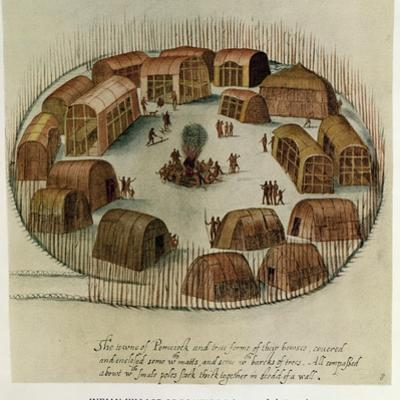 Indian Village of Pomeiooc by John White