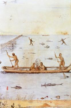 Indians Fishing by John White