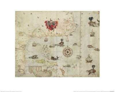La Virgenia Pars: a Map of the East Coast of N. America by John White