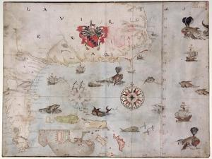 Map of Eastern North America: Florida to Chesapeake Bay by John White