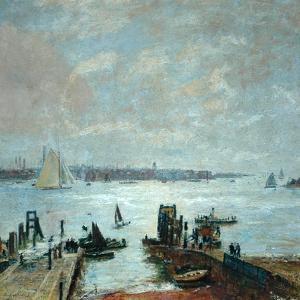 Portsmouth Harbour, 1907 by John William Buxton Knight