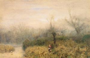 By a Lake, 1882 by John William North