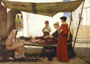 A Grecian Flower Market by John William Waterhouse