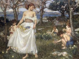 A Song of Springtime, 1913 by John William Waterhouse