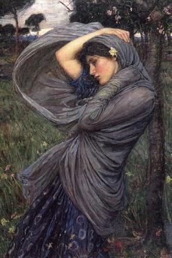 Boreas John William Waterhouse Plastic Sign by John William Waterhouse