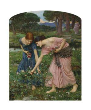 Gather Ye Rosebuds While Ye May, 1909 by John William Waterhouse