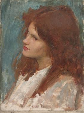 Head of a Girl, C. 1892-1900 by John William Waterhouse