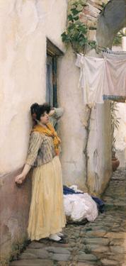 Italian Girl by John William Waterhouse