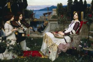 John William Waterhouse Saint Cecilia Plastic Sign by John William Waterhouse